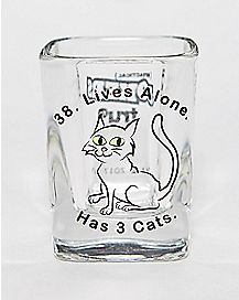 Impractical Jokers 3 Cats Shot Glass- 2 oz.