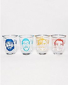 Impractical Jokers Shot Glasses 4 Pack
