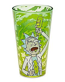 Riggety Wrecked Rick and Morty Pint Glass - 16 oz.