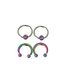 Rainbow Captive and Horseshoe Glitter 4 Pack - 16 Gauge