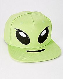 Alien Face Snapback Hat