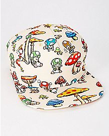 Toad Mushrooms Super Mario Snapback Hat