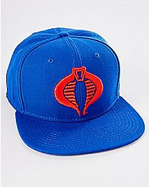 Blue Cobra Snapback Hat