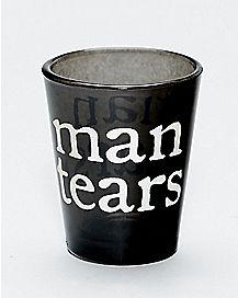 Man Tears Shot Glass