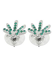 Pot Leaf Stud Earrings