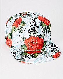 Floral Snapback Hat