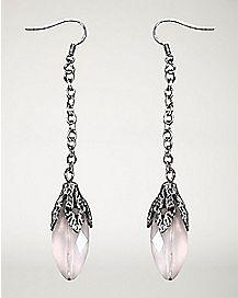Opal-Effect Dangle Earrings