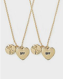 BFF Heart Necklace 2 Pack