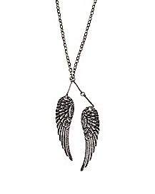 Antique Silver Wing Necklace