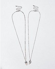 Weirdo Heart Friendship Necklaces