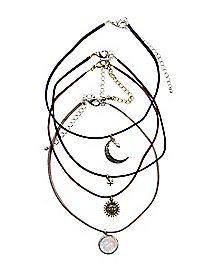 Celestial Choker Necklace - 4 Pack