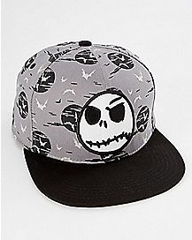 Glow In The Dark Jack Skellington Snapback Hat - The Nightmare Before Christmas
