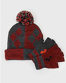 Harley Quinn Hat and Gloves Set - DC Comics