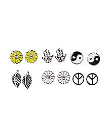 Multi-Pack Stud Earrings - 6 Pair