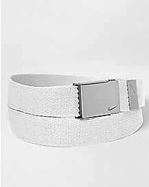 White Nike Belt