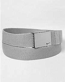 Grey Nike Belt