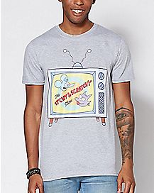 Itchy And Scratchy T Shirt - The Simpsons
