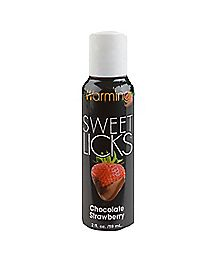 Chocolate Strawberry Flavored Warming Lube 2 oz. - Sweet Licks