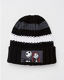 Jack and Sally Beanie Hat - The Nightmare Before Christmas