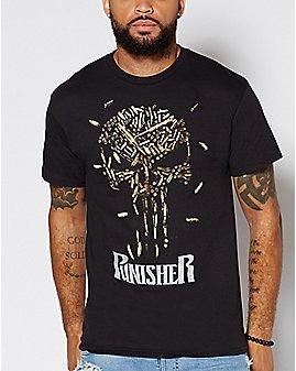 Bullet Punisher T Shirt - Marvel
