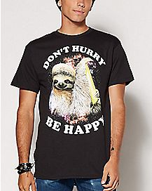 Don't Hurry Be Happy Sloth T Shirt
