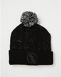Black Pom The Flash Beanie Hat - Marvel