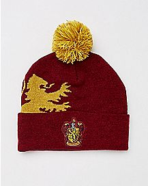 Pom Gryffindor Beanie Hat - Harry Potter