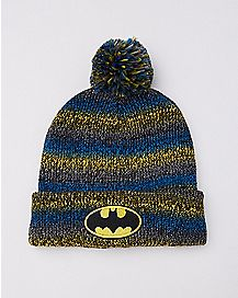 Striped Batman Pom Beanie Hat  - DC Comics