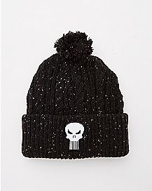 Braided Punisher Beanie Hat - Marvel