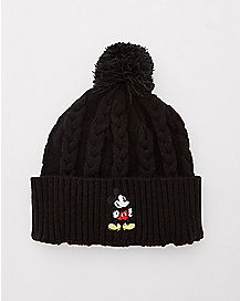 Braided Mickey Mouse Beanie Hat - Disney