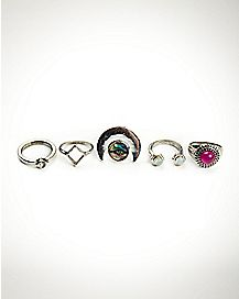 Mystical Moon Ring - 5 Pack