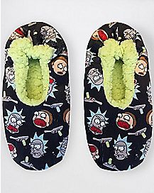 Rick and Morty Slipper Socks