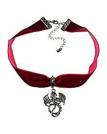 Velvet Dragon Choker Necklace