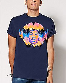 Jimi Hendrix Neon Melt T Shirt