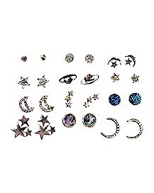Celestial Stud Earrings - 12 Pair
