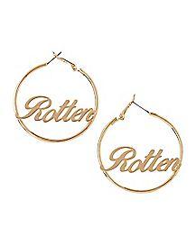 Rotten Hoop Earrings