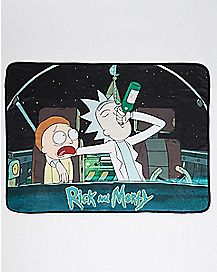 Space Drink Rick and Morty Fleece Blanket