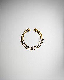 Goldplated CZ Fake Septum Ring