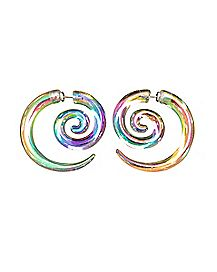 Iridescent Spiral Fake Tapers