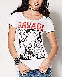 Savage Taz T Shirt - Looney Tunes