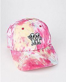 Tie Dye Aliens Dad Hat