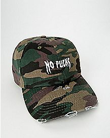 Camo No Fucks Dad Hat