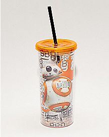 BB-8 Star Wars Cup with Straw - 20 oz.