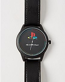 Black PlayStation Watch - Sony