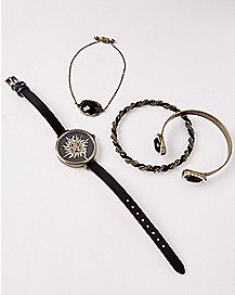 Supernatural Watch and Bracelet Set - 4 Pack