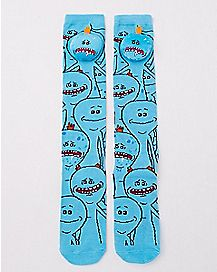 3D Head Mr. Meeseeks Knee High Socks - Rick and Morty