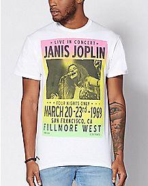 Concert Poster Janis Joplin T Shirt