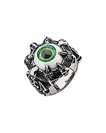 Green Eyeball Ring