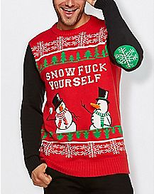Snow Fuck Yourself Ugly Christmas Sweater