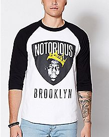 Notorious BIG Raglan T Shirt